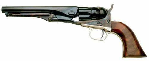 "Cimarron 1862 Police Pocket Model Percussion Revolver .36 Cal 5.5"" Barrel Cas Hardened Brass T/G-B/S Walnut Grip Standar"