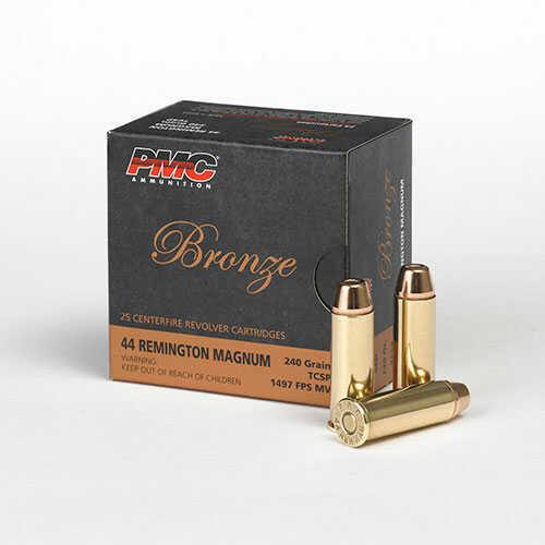 PMC Bronze 44 Rem Mag 240 Gr SP 25 RDS Ammunition 44D