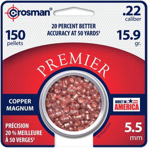 Crosman Premier Copper Pellet .22 150 pk. Model: CPD22
