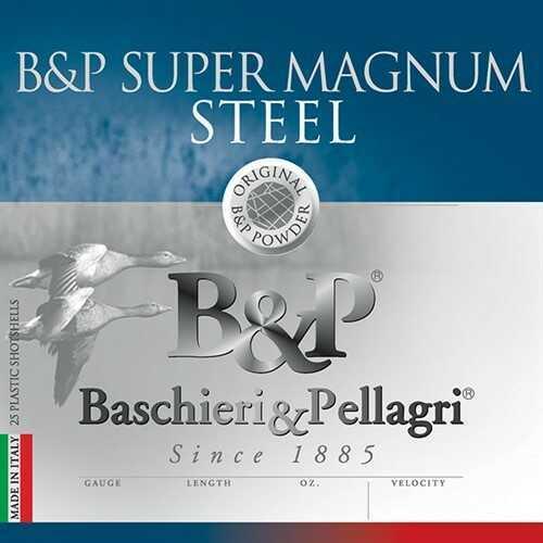 B&P Magnum Steel Shotshells 12 Gauge 3-1/2 In 1-1/2 oz #2 shot 1450 fps 25 per Box