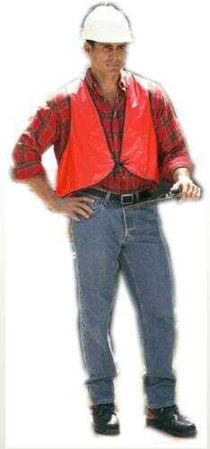 Texport Vinyl Safety Vest Blaze Orange 1-Size Model: 26440