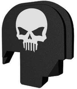 Bastion Slide Back Plate Skull Black and White Fits S&W M&P Shield 9/40 BASMPS-SLD-BW-BTSKUL