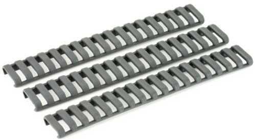 Ergo Grip Low Pro Rail Covers Fits 18 Slot Ladder Gray Finish 4-Pack 4373-3PK-GG