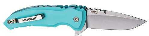 "Hogue Grips X1-Microflip Folding Knife Tumbled Plain Drop Point Blade 2.75"" Aluminum / Grey 24172"