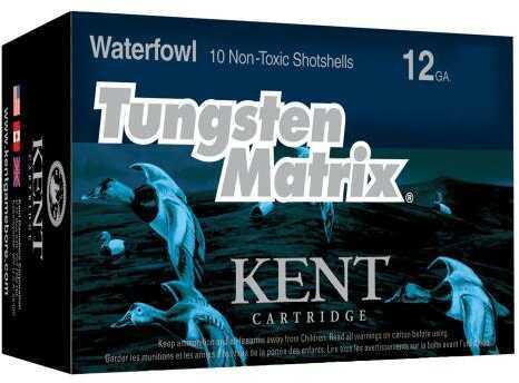 """Kent Cartridge C122NT363 Tungsten Matrix Waterfowl 12 Gauge 2.75"""" 1-1/4 oz 3 Shot 10 Bx"""