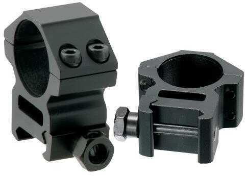 """UTG RGWM-25M4 Medium Profile Ring Set Dia 1"""" Black Matte Anodized"""