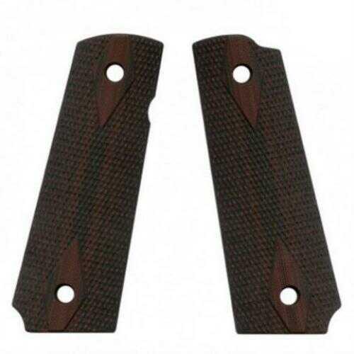 VZ 1911 Double Diamond Grip Panels Diamond Texture G10, Black/Cherry Md: DDCXA