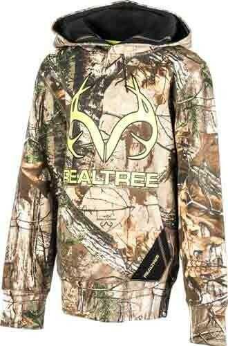 Realtree YOUTH'S HOODIE Medium Rt-XTRA Camo W/Logo<
