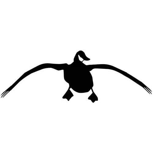 "Outdoor DECALS Landing Goose 4""X12"" White"