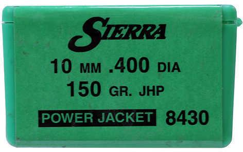 Sierra 10mm 165 Grains JHP Per 100 Md: 8445 Bullets