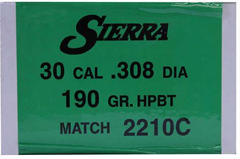 Sierra 30 Caliber/7.62mm 190 Grains HPBT Match Per 500 Md: 2210C Bullets