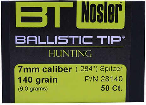Nosler 7mm 140 Grains Spitzer Ballistic Tip Per 50 Md: 28140 Bullets