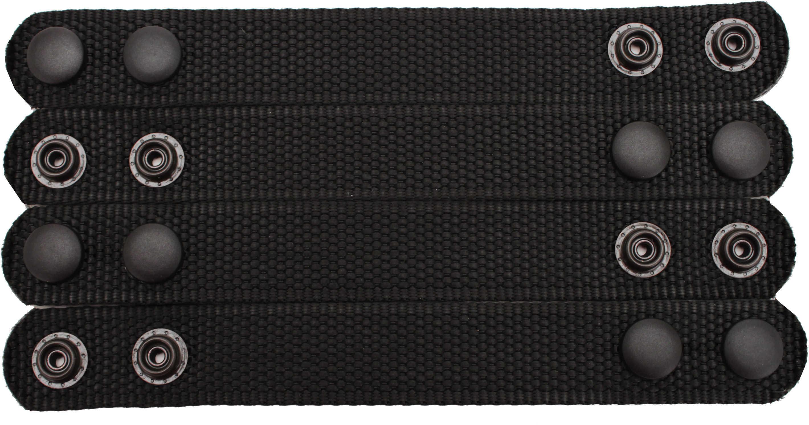 Bianchi 6406 Ranger Belt Keepers 4 Pack Black, Snap Md: 15635