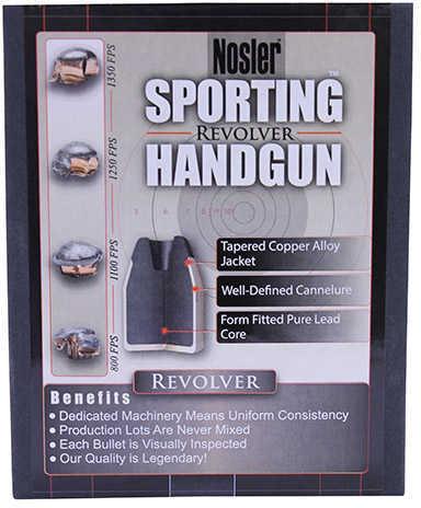 Nosler 45 Colt 250 Grains JHP Handgun Per 100 Md: 43013 Bullets