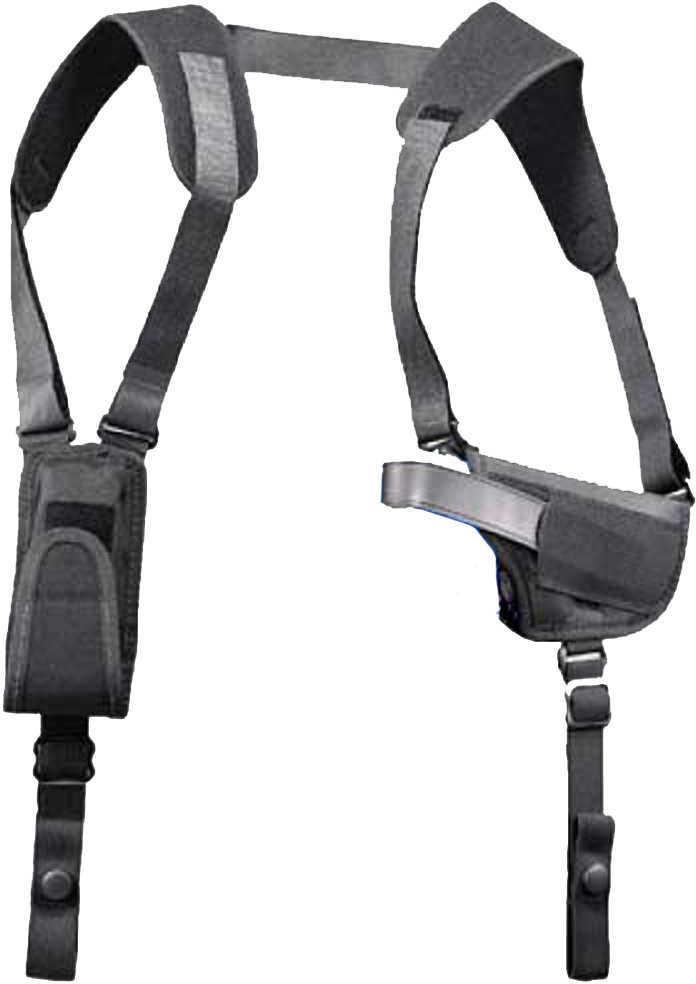 Uncle Mikes Pro-Pak Horizontal Shoulder Holster Black Nylon Size 15 Md: 77150