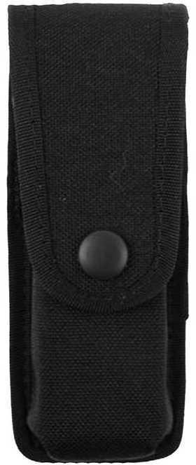 Uncle Mikes Cordura Magazine Case Single Pistol - Snap Double Row Black Md: 88172