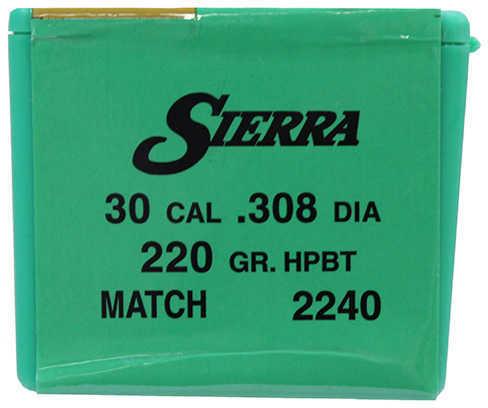Sierra 30 Caliber/7.62mm 220 Grains HPBT Match Per 500 Md: 2240C Bullets