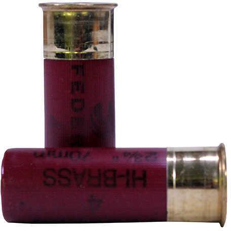 """Federal 12 Gauge Game-Shok Hi-Brass Lead Shot shells 2 3/4"""" 3 3/4 Dram 1 1/4Oz 4 Shot Ammunition"""