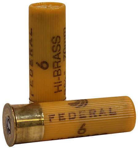 """Federal 20 Gauge Game-Shok Hi-Brass Lead Shot shells 2 3/4"""" 2 3/4 Dram 1Oz 6 Shot Per 25 Ammunition"""