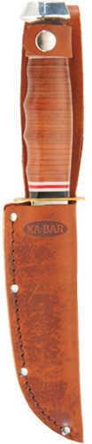 "Ka-Bar Leather Handled Hunters Skinner 8 1/4"" Md: 1233"