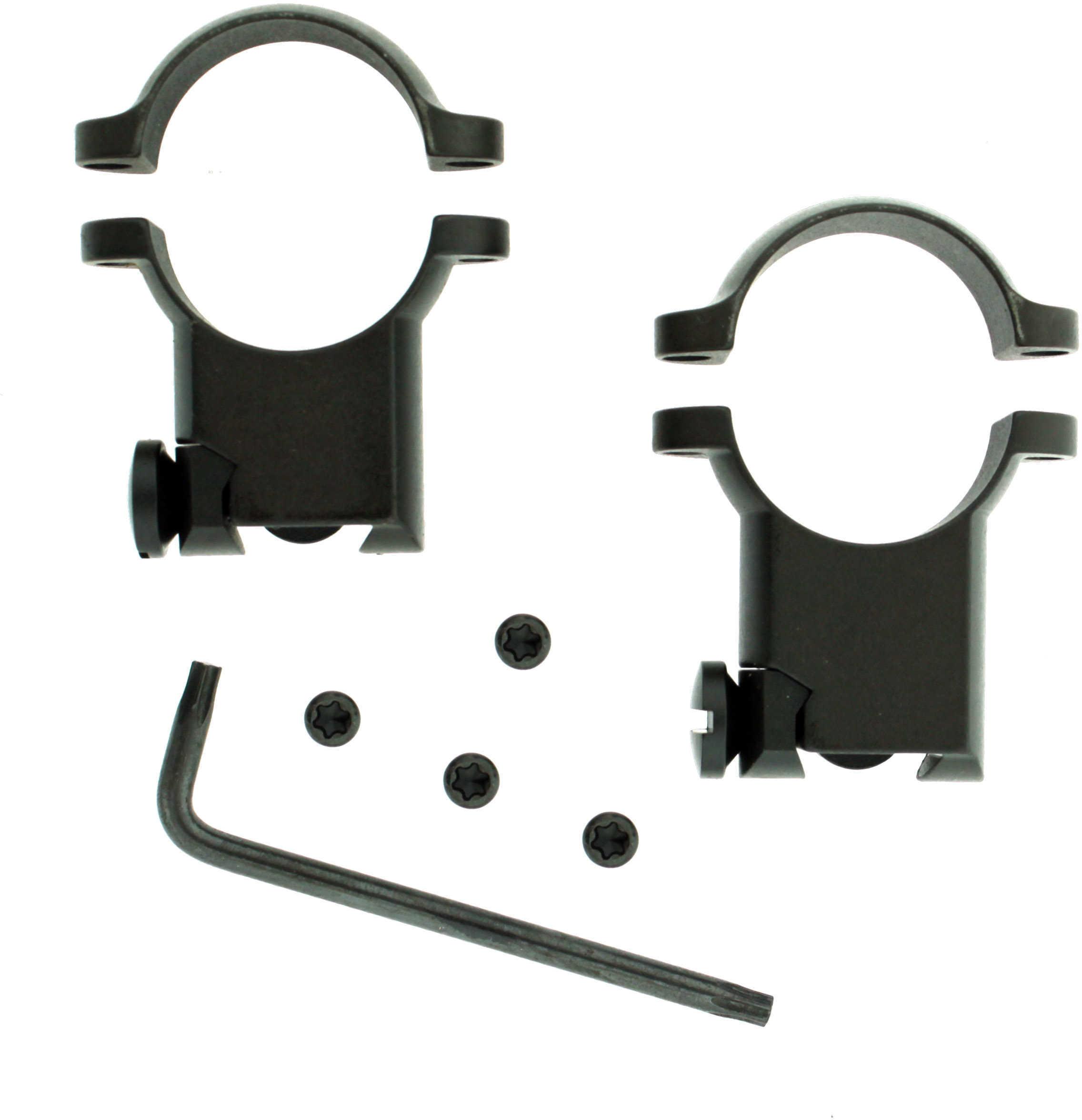 """Leupold Ruger® M77 Ring Mounts 1"""" Super High Matte Black Md: 49944"""