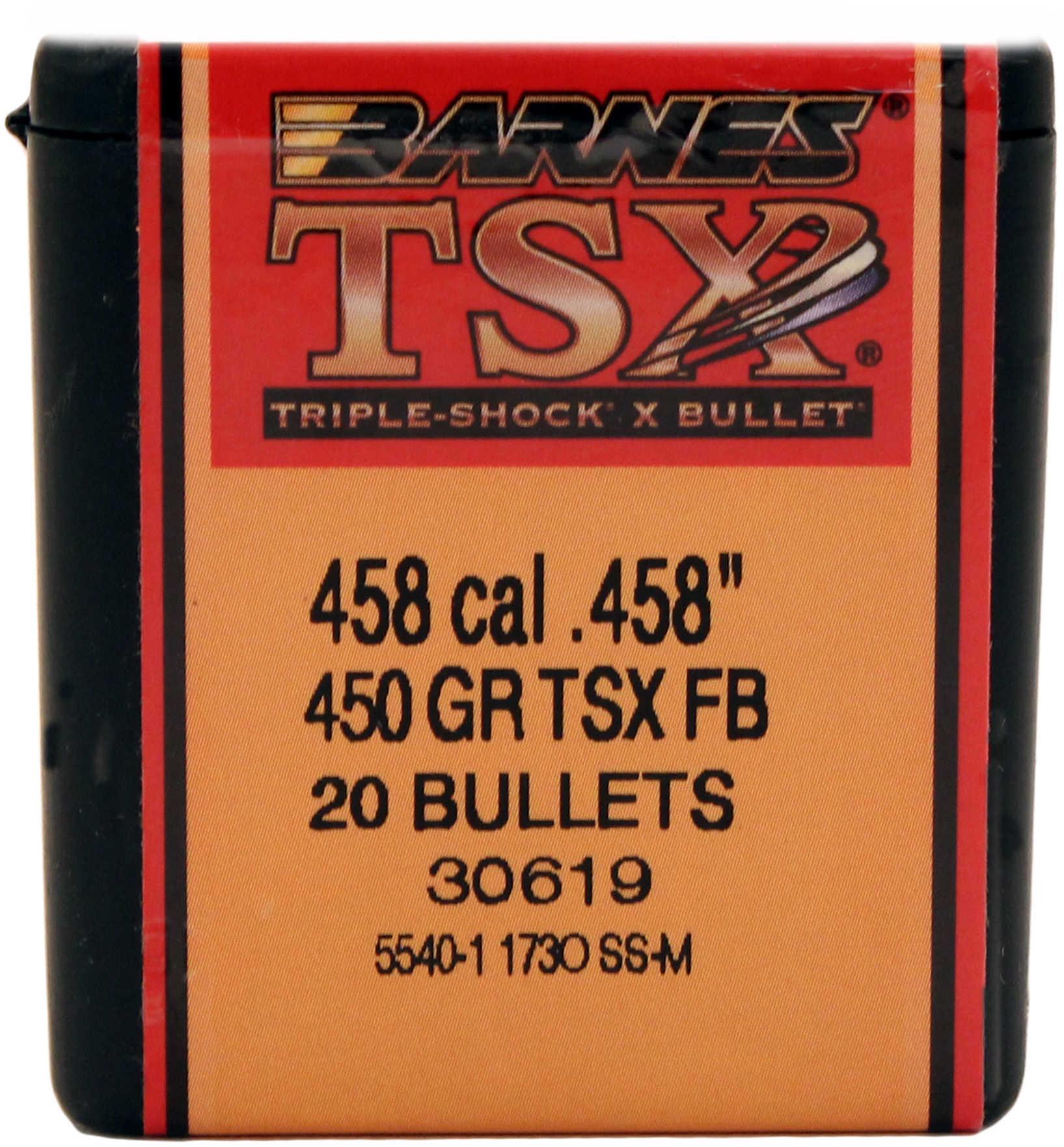 Barnes 458 Caliber 450 Grain Triple Shok X Flat Base Per 20 Md: 45819 Bullets