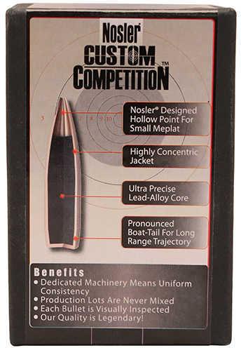 Nosler 30 Caliber 168 Grains HPBT J4 Competition Per 100 Md: 53164 Bullets