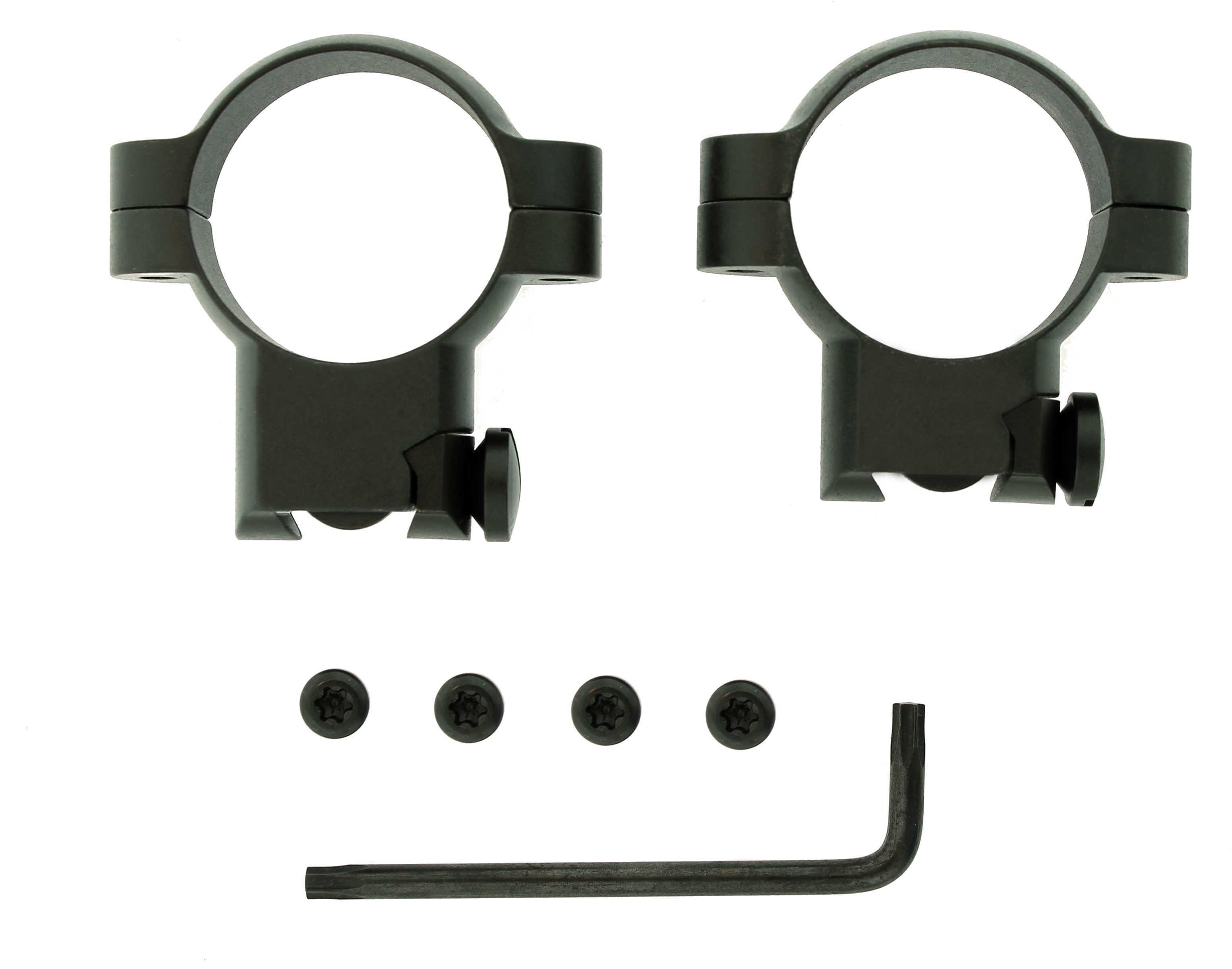 Leupold Ruger® M77 Ring Mounts 30mm High Matte Black Md: 51042