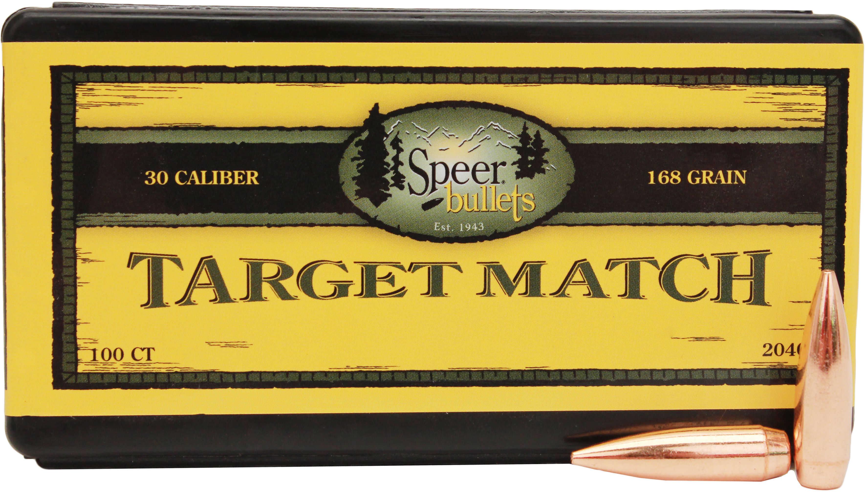 Speer 30 Caliber 168 Grains Match HP BT Per 100 Md: 2040 Bullets
