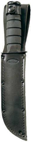 Ka-Bar Black Short Fighting/Utility Knife Black, Straight Edge W/Ka-Bar U.S.A. Sheath Md: 1256