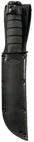 Ka-Bar Black Fighting/Utility Knife Straight Edge W/ Leather Sheath Md: 1211