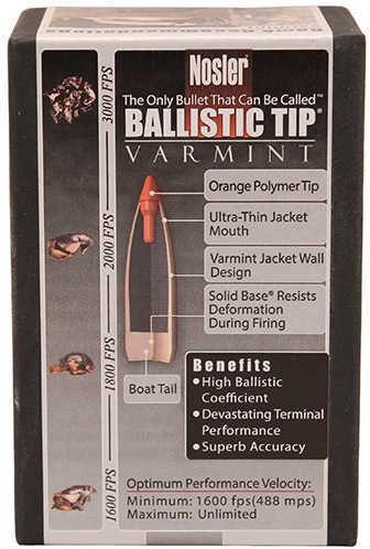 Nosler 22 Caliber .224 50 Grains Spitzer Ballistic Tip Varmint Per 250 Md: 39557 Bullets