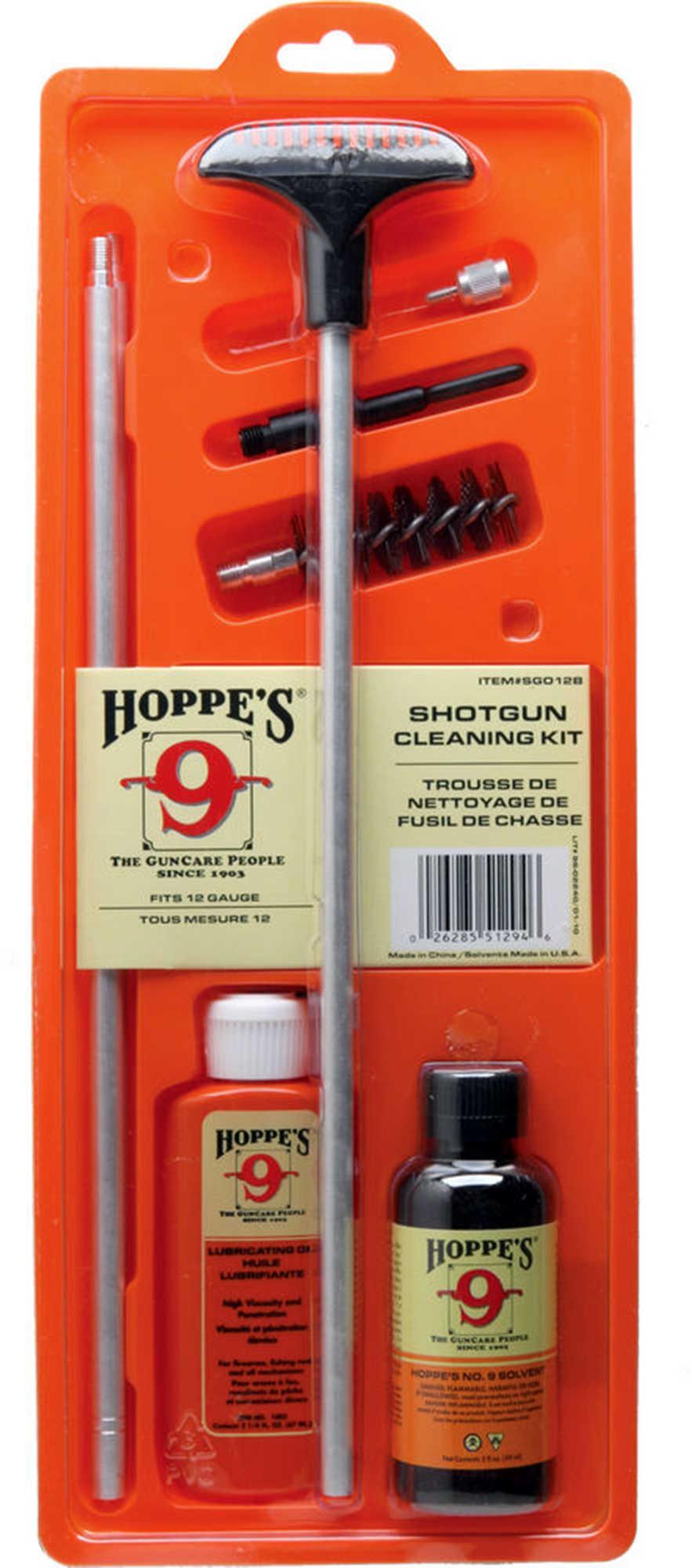 Hoppes Gun Cleaning Kit W/Aluminum Rod 12 Gauge Md: SGO12B