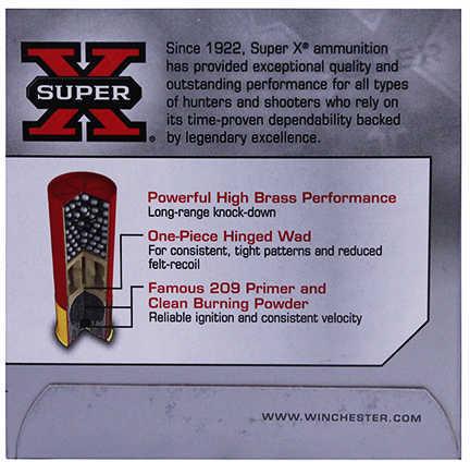 "Super X High Brass Game By Winchester 12 Gauge 2 3/4"" 1 1/4Oz 7 1/2 Shot Per 25 Ammunition Md: X127"