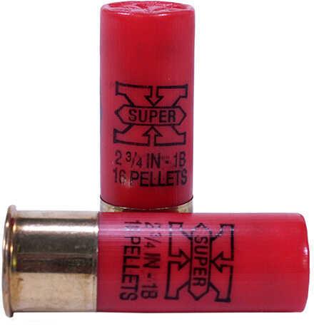 """Super X Buckshot By Winchester 12 Gauge 2 3/4"""" 16 Pellets 1 Buck Per 5 Ammunition Md: XB121"""