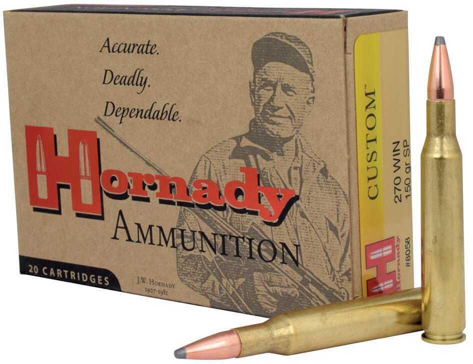 270 Winchester By Hornady 150 Grain SP Per 20 Ammunition Md: 8058