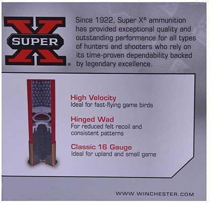 "Super X High Brass Game By Winchester 16 Gauge 2 3/4"" 1 1/8Oz 6 Shot Per 25 Ammunition Md: X16H7"