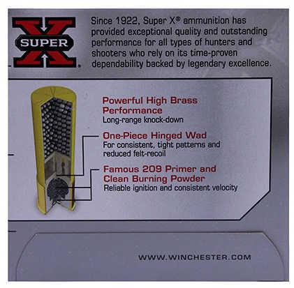 "Super X High Brass Game By Winchester 20 Gauge 2 3/4"" 1Oz 4 Shot Per 25 Ammunition Md: X204"