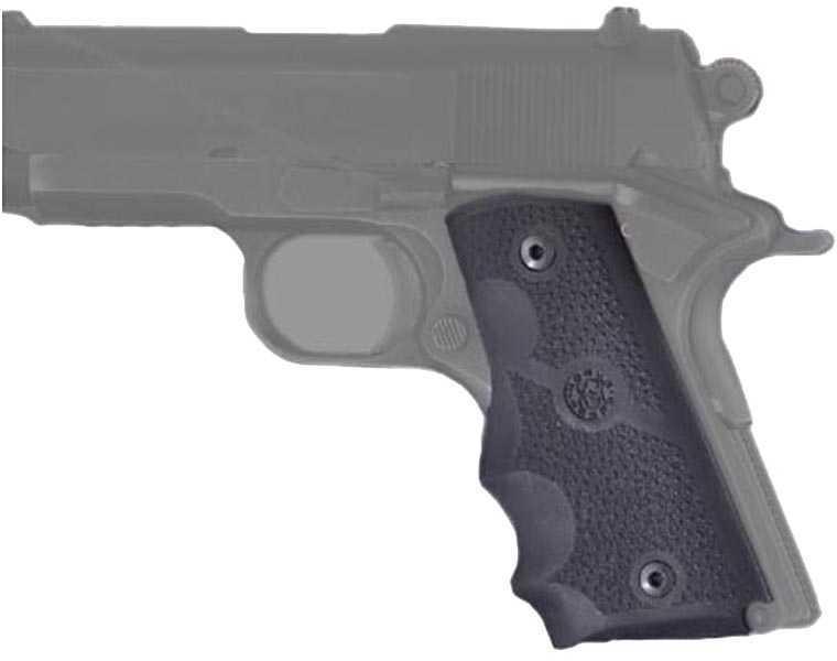 Hogue Rubber Grip For Colt Officer's Model W/ Finger Grooves Md: 43000