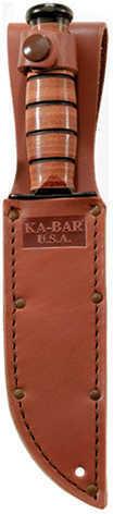 Ka-Bar Short Usmc Straight Edge W/ KA-BAR U.S.A. Sheath Md: 1251