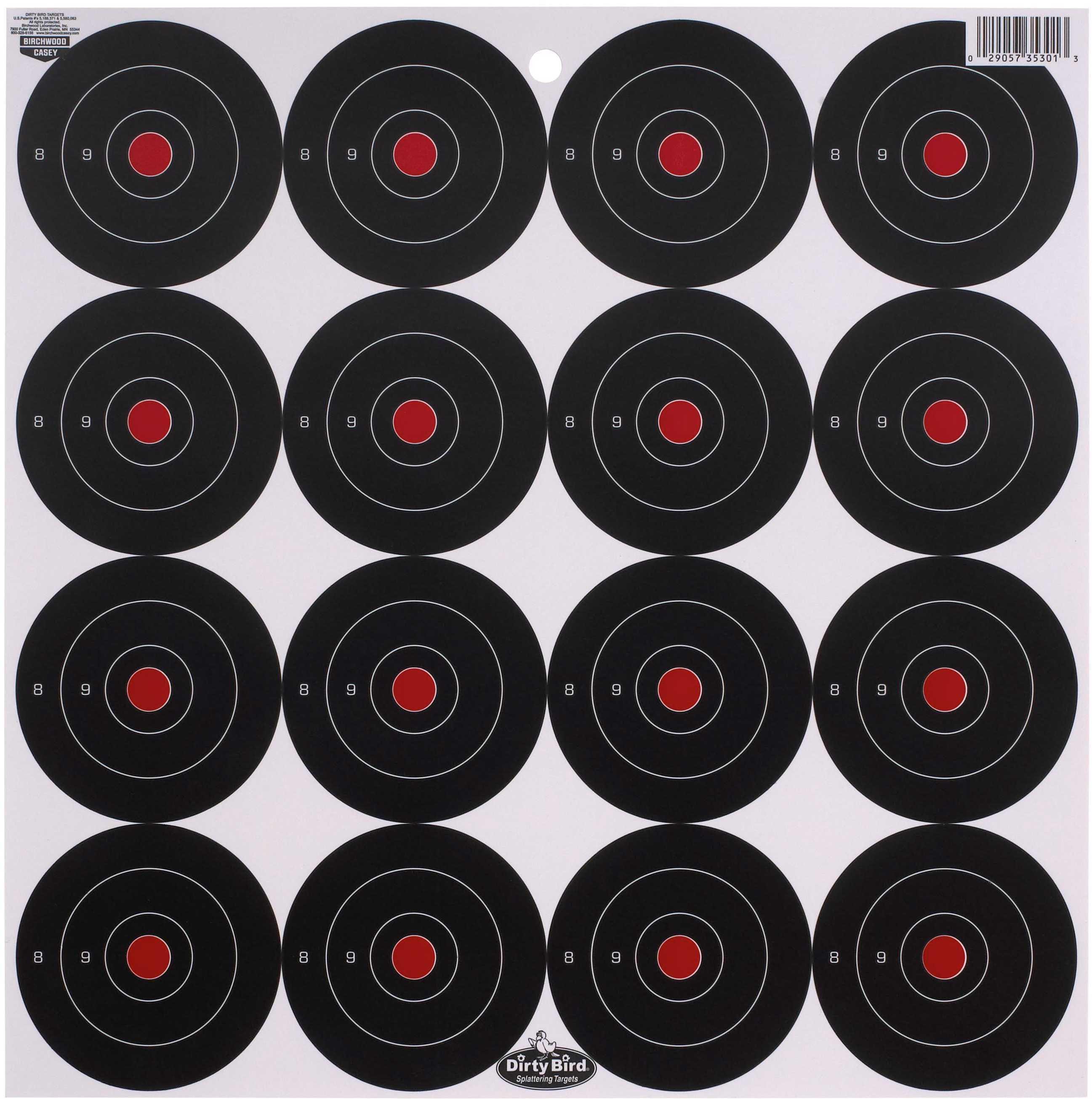 "Birchwood Casey Dirty Bird Paper Targets 3"", Round, 12 Pack Md: 35309"