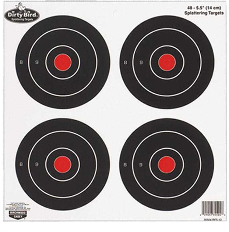 "Birchwood Casey Dirty Bird Paper Targets 5.5"", Round, 12 Pack Md: 35504"