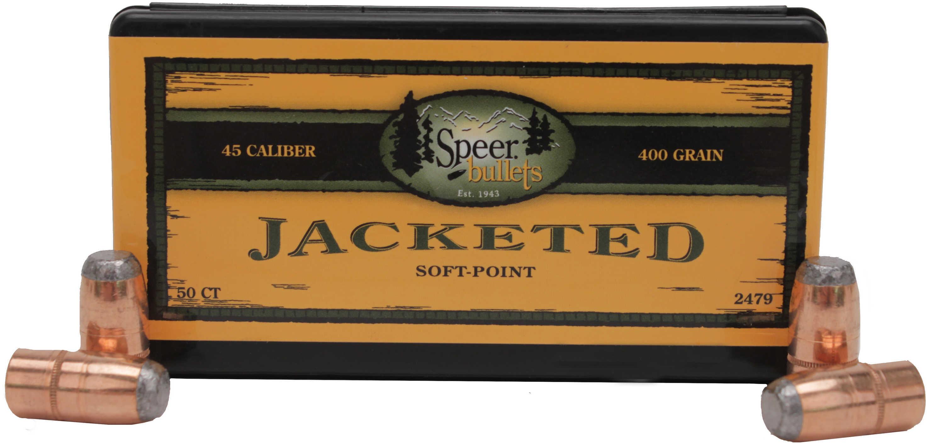 Speer 45 Caliber 400 Grains FN SP Per 50 Md: 2479 Bullets