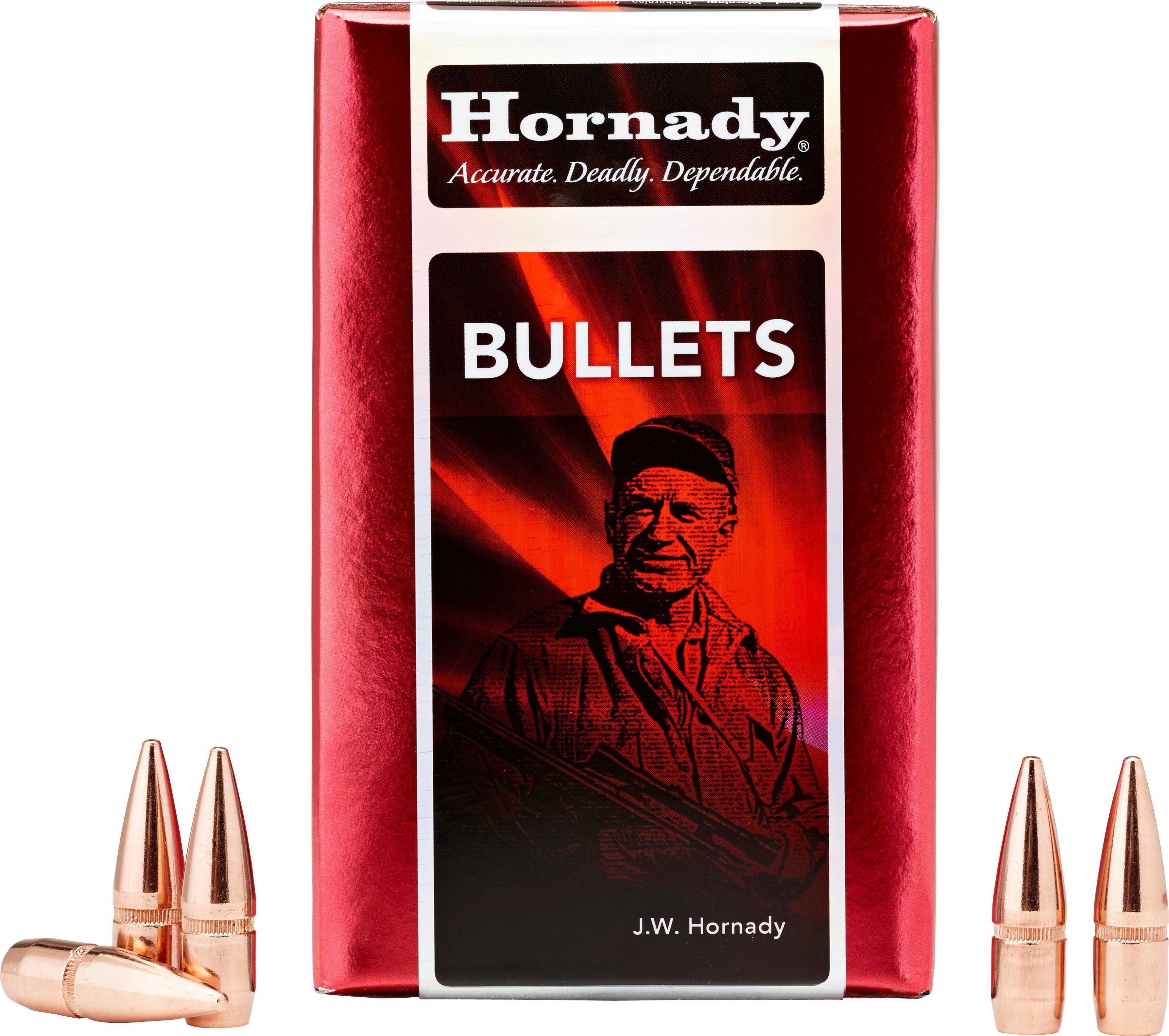 Hornady 30 Caliber Bullets 180 Grain RN Per 100 Md: 3075