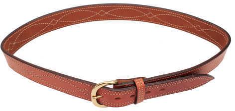 "Bianchi B9 Fancy Stitched Belt Tan, 34"" Md: 12288"