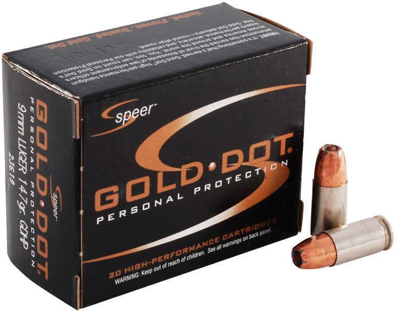 Speer 9mm 147 Grain Gold Dot Hollow Point Per 20 Ammunition Md: 23619