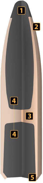 Nosler 30 Caliber 165 Grains Spitzer Partition Per 50 Md: 16330 Bullets