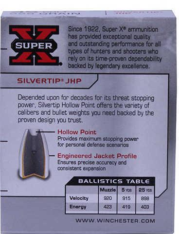 45 Colt By Winchester 45 Colt 225 Grain Super-X Silvertip Hollow Point Ammunition Md: X45CSHP2