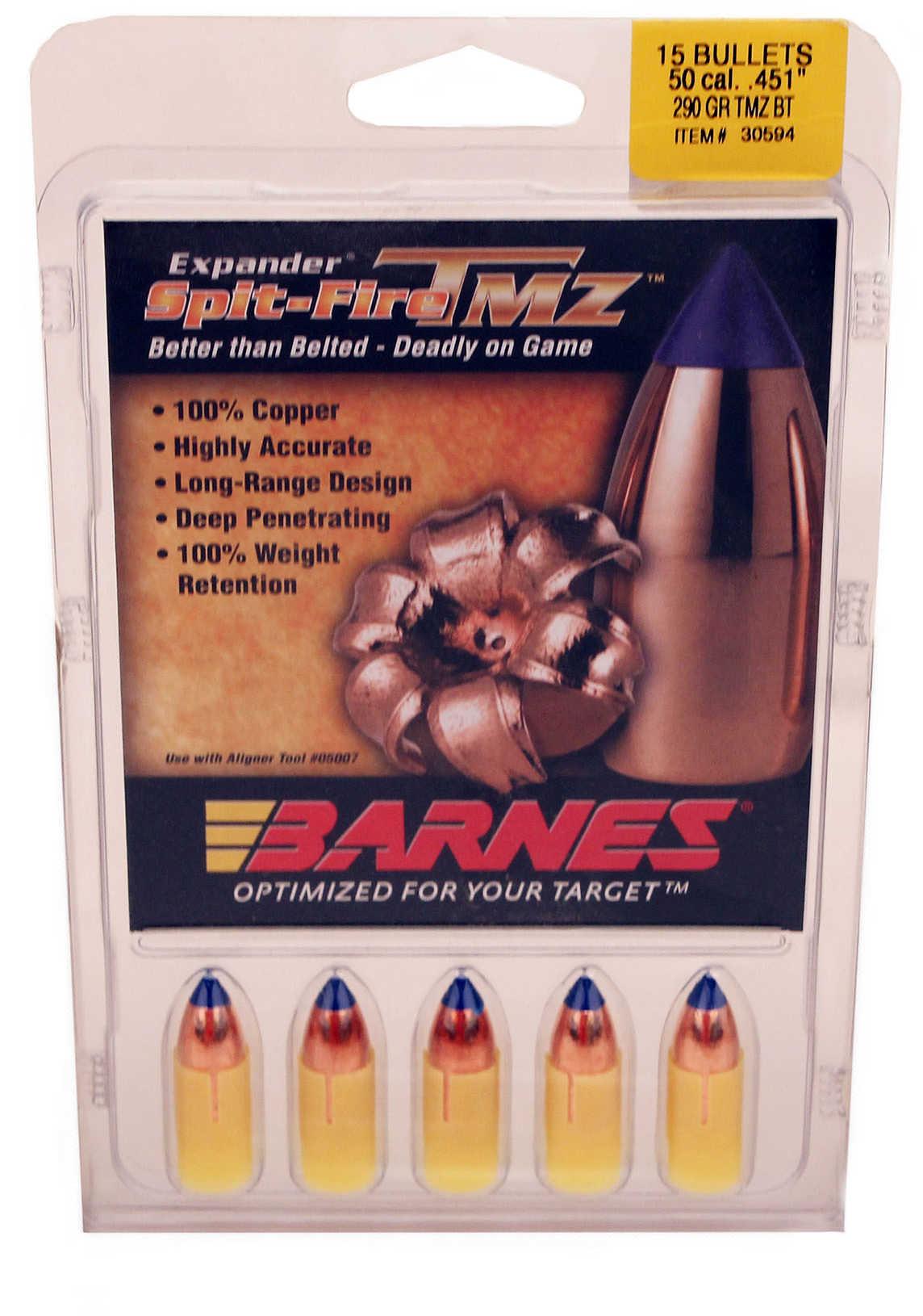 Barnes Spit-Fire T MZ 290 Grain Spitfire Muzzleloader Per 15 Md: 45175