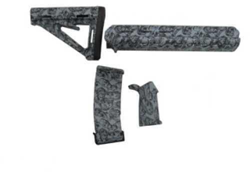 Black DawnAR-15 Zombie Mid-Length Furniture Kit Gray Md: 401-MZ